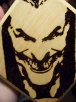 Joker Wood Burning by TheInkVillain