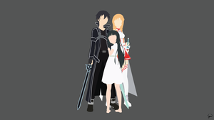 Kirito/Asuna/Yui {Sword Art Online} by greenmapple17