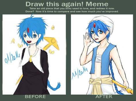 Before - After : Aladdin of Magi by MllxYume