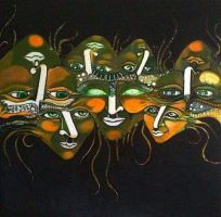 Faces by artist Tina Mirosic by kkopinc