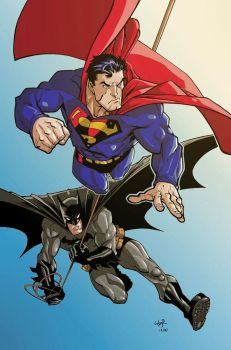 Superman and Batman by Ryan Ottley - Colors by Andre-VAZ