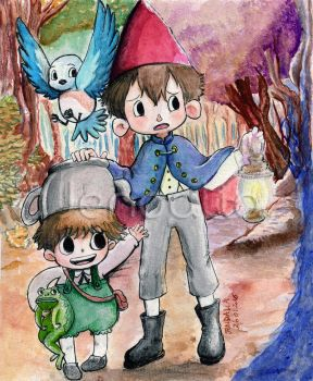 Over The Garden Wall Fan Art Acuarela by jendaliailust