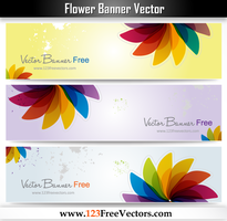 Flower Banner Vector by 123freevectors