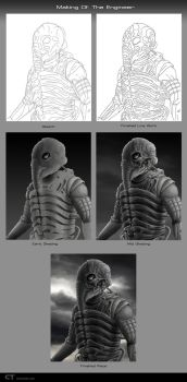 Making of The Engineer by chris-illustrator