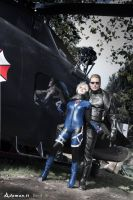 Jill Valentine and Albert Wesker , Resident Evil 5 by DavidCosplay