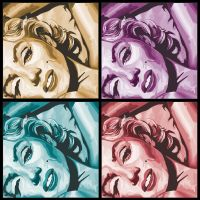 Marilyn Monroe Cubism style portrait by CrackheadJimmy
