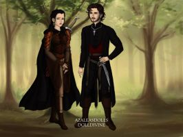 Once Upon A Time, Captian Hook and Mulan. by Katharine-Elizabeth