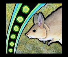 Rufous Hare Wallaby as Totem by Ravenari