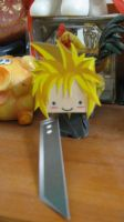 Cloud Strife- Chibi Papercraft by Shinigamichick39