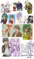 FF6 Sketch Dump by orinocou