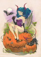 Pumpkin Devil by Vannelee