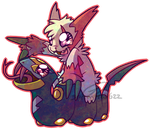 Chibi Pokemon - Zangoose and Seviper by Springtrap622