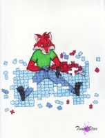 Puzzle Fox by Creative-Dreamr