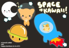 SPACE IS KAWAII collab by happy-bamboo