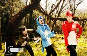Regular Show - Rigby, Mordecai and Margaret by Nayias01