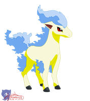 .:Shiny Ponyta:. by JuniorShadow