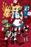 Sailors in Wonderland by aruri