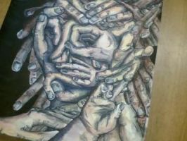 face made of hands by jesswatts