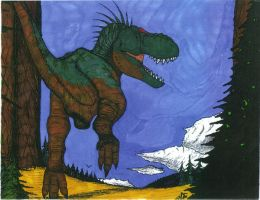 Color Plate of T-Rex by pyramidrus