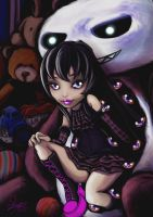 Monster High oc toys nightmares (Shadowna Dark) by skyshek