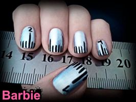 Ruler Nails by BarbieNailArt
