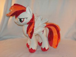Commission: OC Flamerunner Plush by KarasuNezumi
