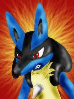 Angry Lucario by WinterIceFox