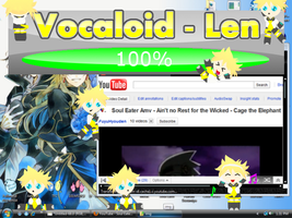 Vocaloid Len - Shimeji WIP by Calculated-Lie