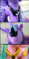 Luna and Celestia Crown + Necklace Details by GrandmaThunderpants
