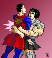 Commission - Bearhugging the supes by SweMu