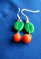 Orange You Glad Earrings by Pinkatron2000