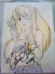 Winry Autographed for Charity by akicafe
