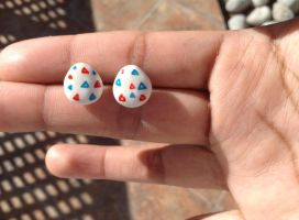 Togepi eggs studs :D by Saloscraftshop