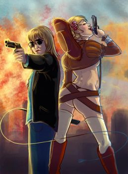 Blondes and guns by Adlynh