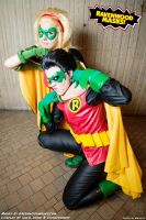Cosplay Robin v. Robin: Stephanie and Damian by Alyssa-Ravenwood