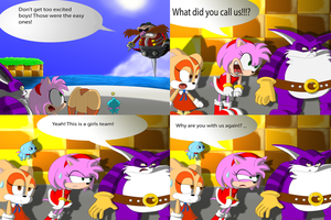 Eggman's Big Team Rose Messup in Color by SpongicX