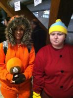 Eric Theodore Cartman And Kenny Mccormick by Playflame1