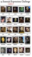 25 Expressions: Lt. Commander Data by Master-Kat-Illusion