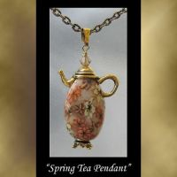 Spring Tea Pendant by KabiDesigns
