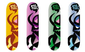 Dark Hero Skate decks by ExoesqueletoDV