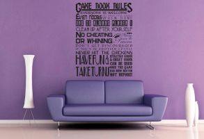 Game Room Rules Wall Decal by GeekeryMade