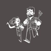 Joel and Ellie - Cartoon Version by AcerSense