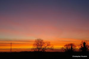 Sunset in Derbyshire by squareprismish