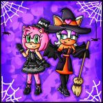 gothic amy and witch rouge by ninpeachlover