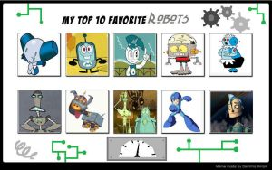 My Top 10 Favorite Robots by Toongirl18