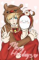 PewdieCry Christmas by Kyoji-No