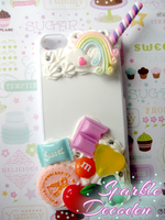 Decoden: Sweet Rainbow iPhone 5c case by Rose-McSugar