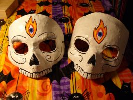 Skull Masks by Psychodelicategirl