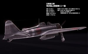 A6M2b Zero Fighter by hylajaponica