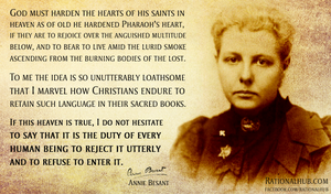 Annie Besant on Hell.. by rationalhub